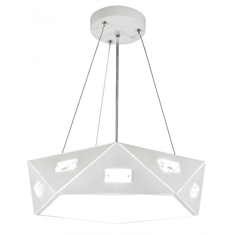 Lampy-sufitowe - biała lampa wisząca z regulowaną wysokością 42 3x40w g9 nemezis 31-59147 candellux firmy Candellux