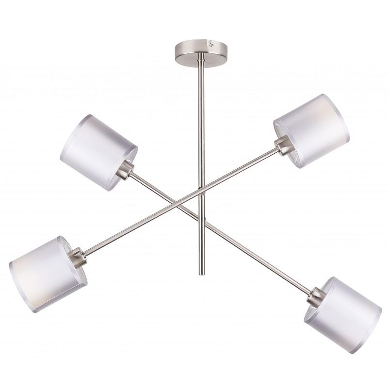 Lampy-sufitowe - lampa wisząca satynowa czteropunktowa 4x40w e14 sax 34-70692 candellux firmy Candellux