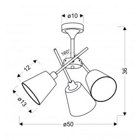 Lampy-sufitowe - trzypunktowa lampa wisząca w kolorze chromowym 3x40w e14 vox 33-70623 candellux