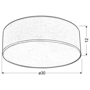 Lampy-sufitowe - okrągła lampa sufitowa jasnoszara 30 2x40w e27 kioto 31-64660 candellux