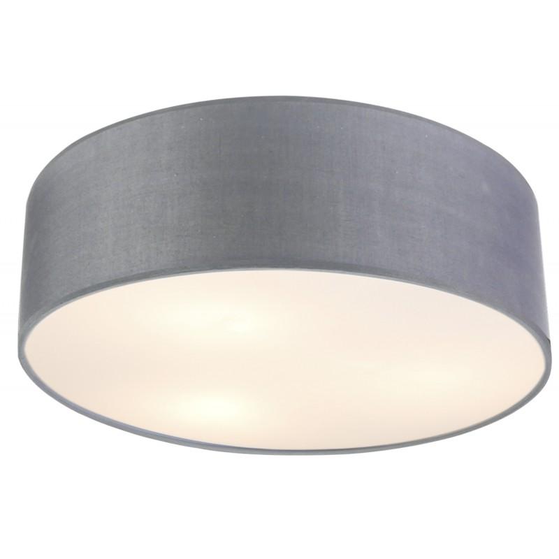Lampy-sufitowe - klasyczna lampa sufitowa okrągła jasnoszara 40 3x40w e27 kioto 31-64684 candellux firmy Candellux