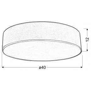 Lampy-sufitowe - klasyczna lampa sufitowa okrągła jasnoszara 40 3x40w e27 kioto 31-64684 candellux
