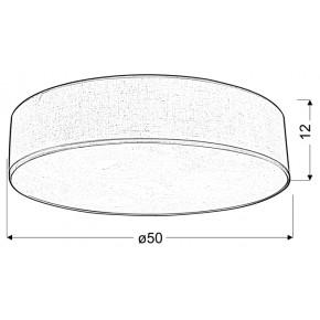 Oswietlenie-sufitowe - elegancka lampa sufitowa w kremowym kolorze 50 3x40w e27 kioto 31-64714 candellux