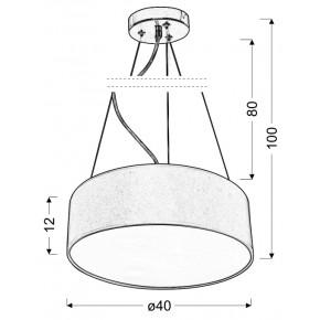 Lampy-sufitowe - wisząca kremowa lampa sufitowa 40 3x40w e27 kioto 31-67739 candellux