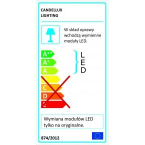 Plafony - lampa sufitowa led o zimnej barwie 10w led 6500k zigo 10-39545 candellux