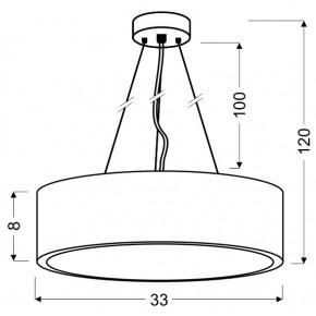 Lampy-sufitowe - klasyczna lampa wisząca led metalowa 16w 6500k zigo 31-39521 candellux