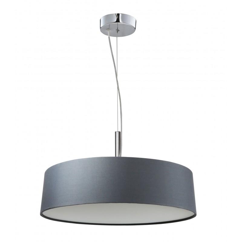 Lampy-sufitowe - srebrzysto szara lampa wisząca 3x60w e27 blum 31-46673 candellux firmy Candellux