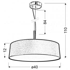 Lampy-sufitowe - srebrzysto szara lampa wisząca 3x60w e27 blum 31-46673 candellux