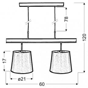 Lampy-sufitowe - elegancka czarno-srebrna lampa sufitowa na 2 żarówki 32-53541 milonga candellux
