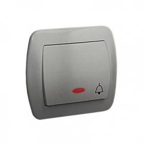 Przycisk dzwonek z podświetleniem aluminiowy AD1L/26 Simon Akord Kontakt-Simon