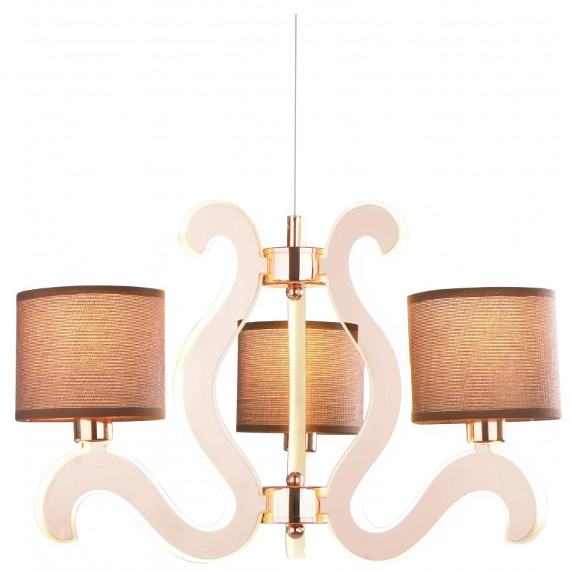 Lampy-sufitowe - lampa wisząca miedziana na kilka źródeł światła 3x40w e14 + 18,4w led ambrosia 33-33888 candellux firmy Candellux