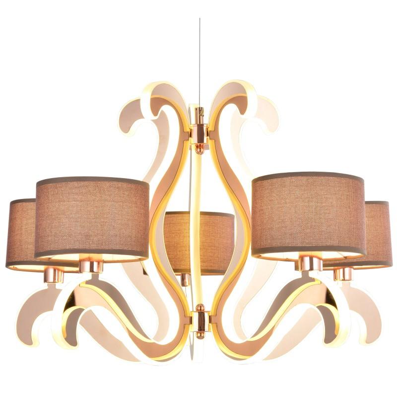 Lampy-sufitowe - stylowe oświetlenie z święcącymi ramionkami led 5x40w e14 + 43,4w led ambrosia 35-33918 candellux firmy Candellux