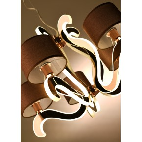Lampy-sufitowe - stylowe oświetlenie z święcącymi ramionkami led 5x40w e14 + 43,4w led ambrosia 35-33918 candellux