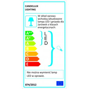 Kinkiety - kinkiet chromowy z wbudowanym led-em 1x40w e14 + 6w led ambrosia 21-33864 candellux