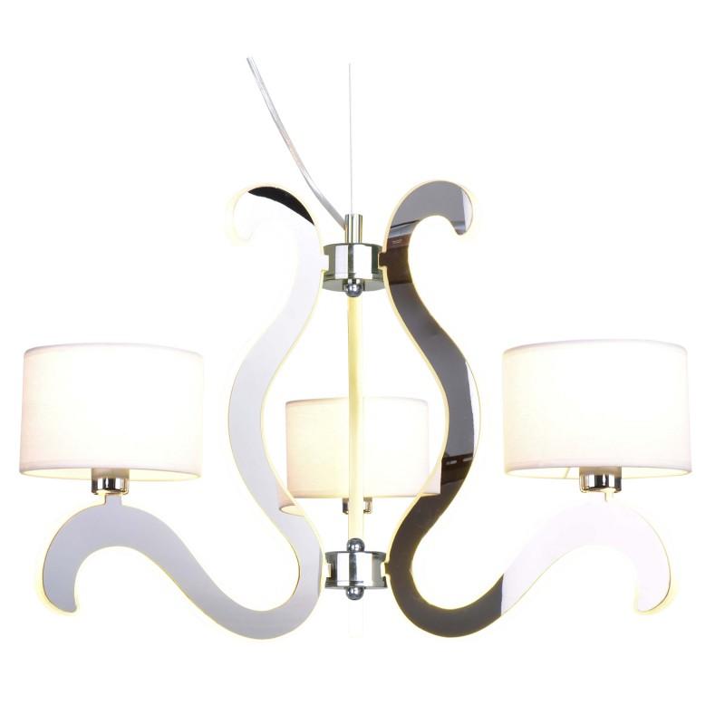 Lampy-sufitowe - chromowa lampa wisząca na kilka źródeł światła 3x40w e14 + 18,4w led ambrosia 33-33895 candellux firmy Candellux