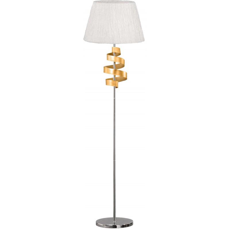 Lampy-stojace - chromowa lampa podłogowa ze złotym elementem 1x60w e27 denis 51-23506 candellux firmy Candellux
