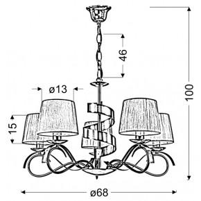 Lampy-sufitowe - lampa wisząca pięciopunktowa chromowo-złota 5x40w e14 denis 35-23445 candellux