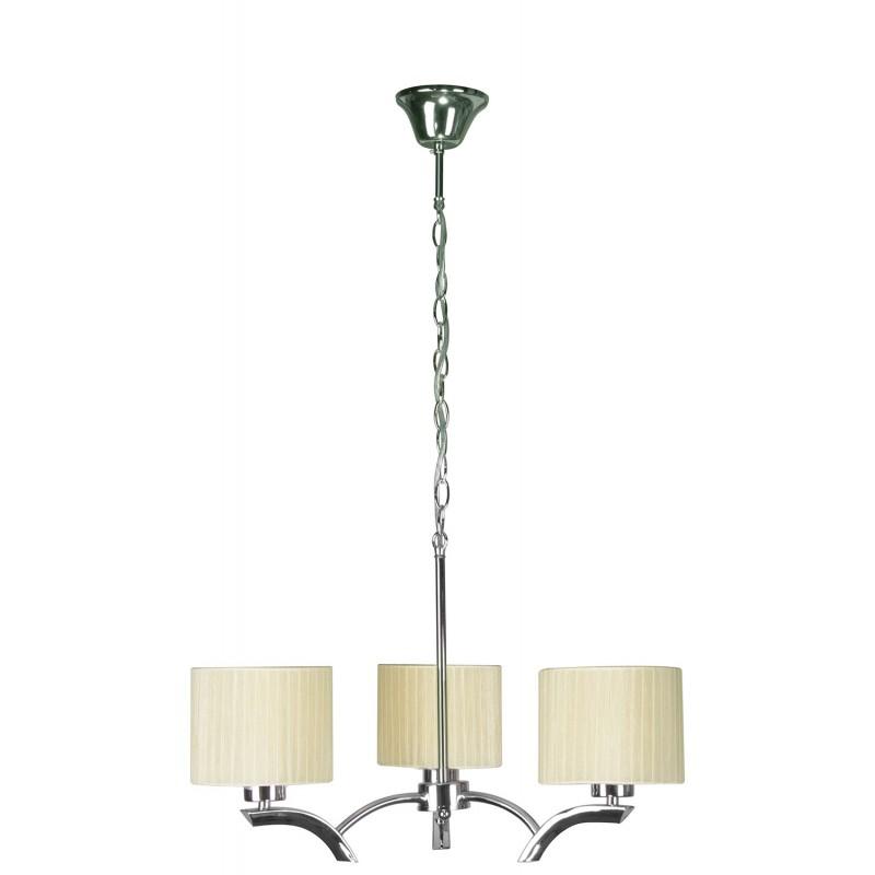 Lampy-sufitowe - kremowa lampa wisząca trzypunktowa 3x60w e27 draga 33-04208 candellux firmy Candellux