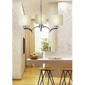 Lampy-sufitowe - kremowa lampa wisząca trzypunktowa 3x60w e27 draga 33-04208 candellux