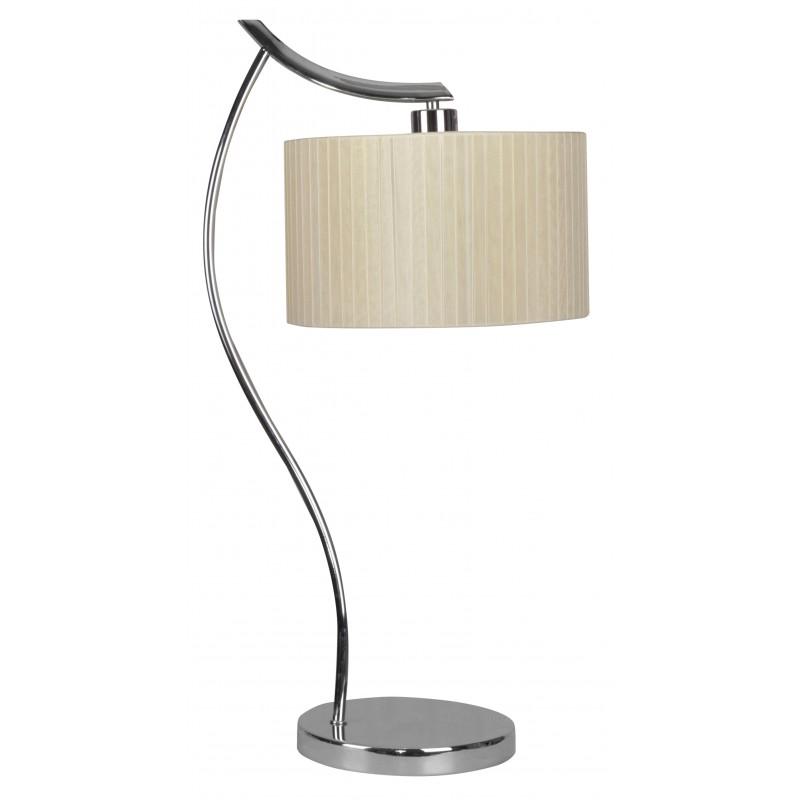 Lampki-nocne - lampka biurkowa chromowa z kremowym abażurem 1x60w e27 draga 41-04239 candellux firmy Candellux