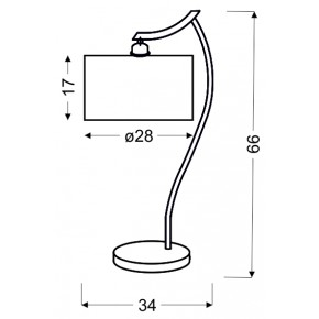 Lampki-nocne - lampka biurkowa chromowa z kremowym abażurem 1x60w e27 draga 41-04239 candellux