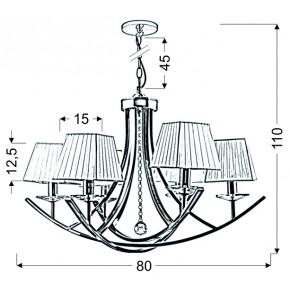 Lampy-sufitowe - elegancka lampa wisząca biało - chromowa 6x40w e14 80x110 valencia 36-84579 candellux