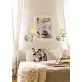 Kinkiety - diva lampa kinkiet z nitkowym abażurem złoto/chrom 21-55040 candellux