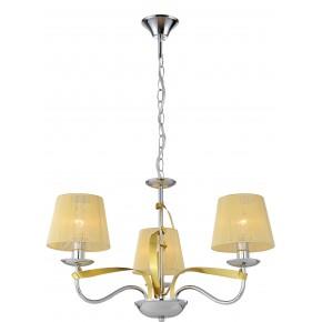 DIVA LAMPA WISZĄCA 3X40W E14 CHROM/ZŁOTY