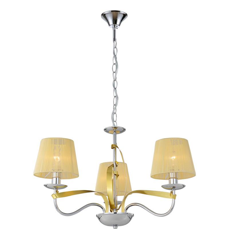 Oswietlenie - żyrandol z 3 abażurami złoto/chrom diva 33-55057 candellux firmy Candellux