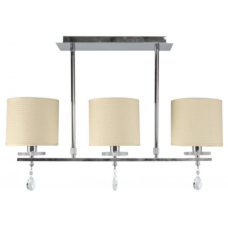 Lampy-sufitowe - elegancka lampa wisząca trzypunktowa chromowo-biała 3x40w e14 estera 33-11510 candellux firmy Candellux