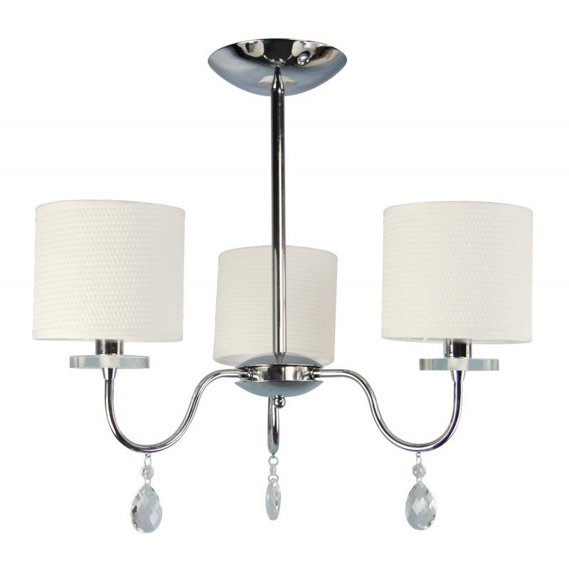 Lampy-sufitowe - lampa wisząca chromowa z zwisającymi kryształkami 3x40w e14 estera 33-11664 candellux firmy Candellux