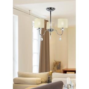 Lampy-sufitowe - lampa wisząca chromowa z zwisającymi kryształkami 3x40w e14 estera 33-11664 candellux