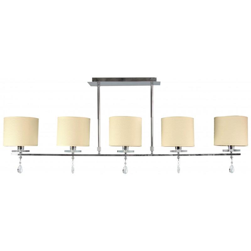 Lampy-sufitowe - chromowa lampa sufitowa listwa z białymi kloszami 5x40w e14 estera 35-11527 candellux firmy Candellux