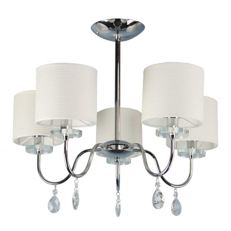 Lampy-sufitowe - lampa wisząca żyrandol chromowy pięciopunktowy 40w e14 estera 35-11671 candellux firmy Candellux