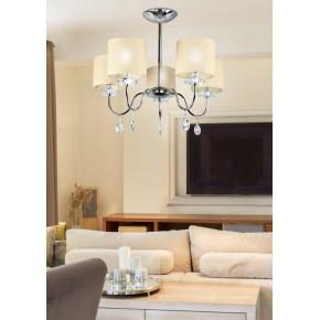 Lampy-sufitowe - lampa wisząca żyrandol chromowy pięciopunktowy 40w e14 estera 35-11671 candellux