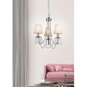 Lampy-sufitowe - stylowa lampa wisząca z kryształkami 3x40w e14 ruti 33-58713 candellux