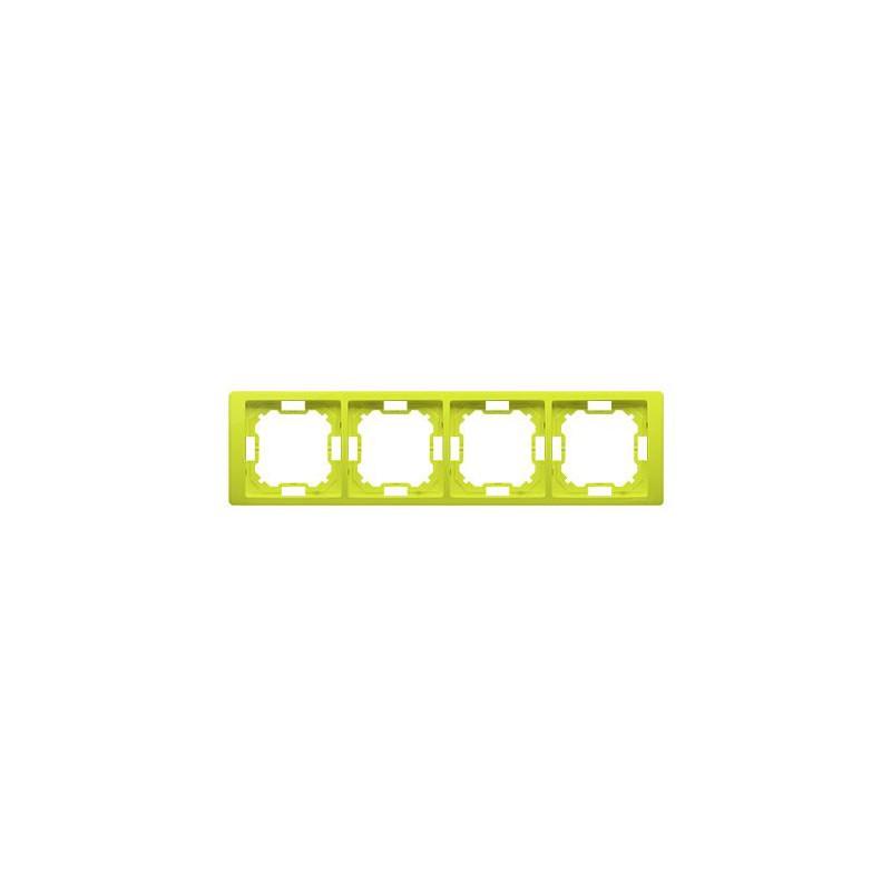 Ramka poczwórna limonkowa BMRC4/036 Simon Basic Neos Kontakt-Simon