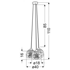 Lampy-sufitowe - lampa wisząca z trzema szklanymi kloszami chrom 3x60w e27 trio 33-62840 candellux