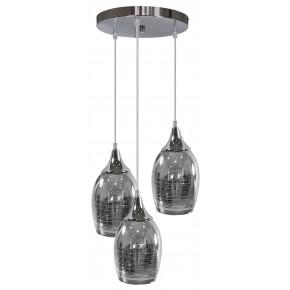 MARINA LAMPA WISZĄCA TALERZ 3X60W E27 CHROM