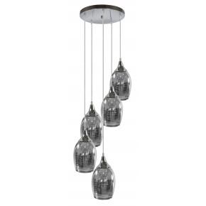 Lampy-sufitowe - chromowana lampa sufitowa lustrzana na 5 żarówek 35-60298 candellux