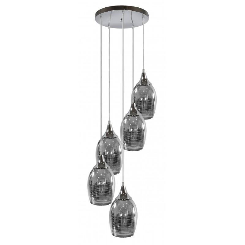 Lampy-sufitowe - chromowana lampa sufitowa lustrzana na 5 żarówek 35-60298 candellux firmy Candellux