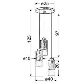Lampy-sufitowe - okrągła lampa wisząca srebrna 3x60w e27 libano 33-51691candellux