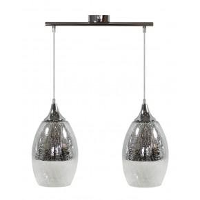 Lampy-sufitowe - lampa wisząca srebrna o efekcie bitego szkła 2x60w e27 celia 32-51578 candellux