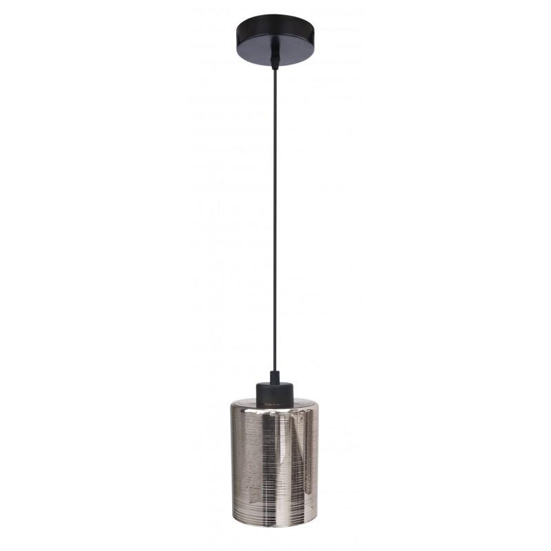 Lampy-sufitowe - czarna lampa wisząca o szklanym kloszu 12 1x60w e27 cox 31-53862 candellux firmy Candellux