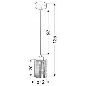 Lampy-sufitowe - czarna lampa wisząca o szklanym kloszu 12 1x60w e27 cox 31-53862 candellux