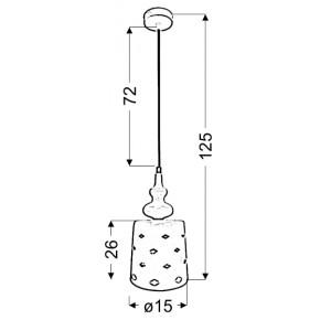 Lampy-sufitowe - lampa wisząca pojedyncza biała 15/26 1x60w e27 hamp 31-51905 candellux