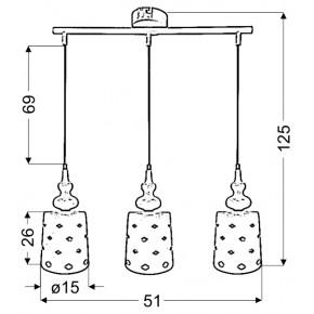 Lampy-sufitowe - sufitowa lampa biała z oryginalnymi kloszami 3x60w e27 hamp 33-51943 candellux