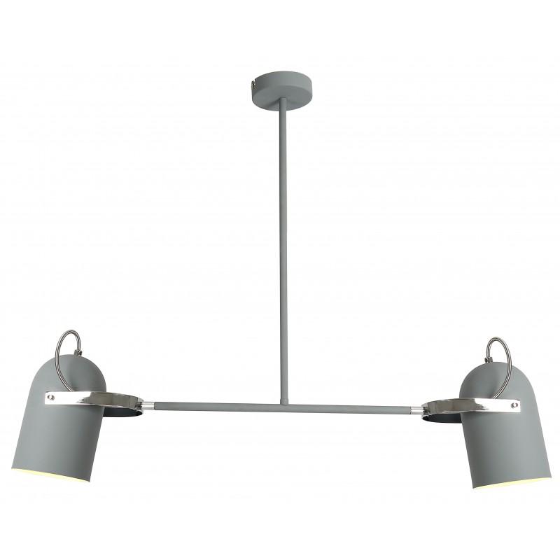 Lampy-sufitowe - lampa wisząca szara na dwie żarówki e27 2x40w gray 32-66510 candellux firmy Candellux