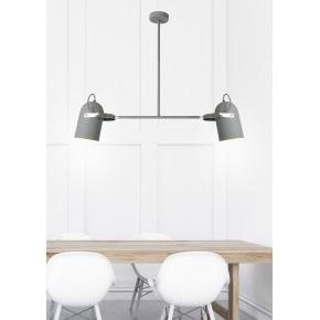 Lampy-sufitowe - lampa wisząca szara na dwie żarówki e27 2x40w gray 32-66510 candellux