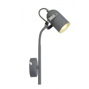 GRAY LAMPA KINKIET NA WYSIĘGNIKU 1X40W E14 SZARY